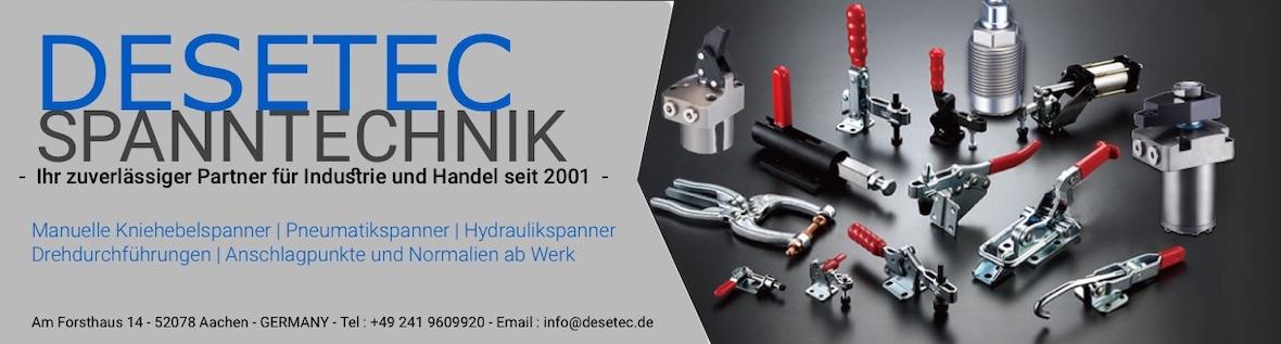 DESETEC - SPANNTECHNIK - Partner für Industrie und Handel